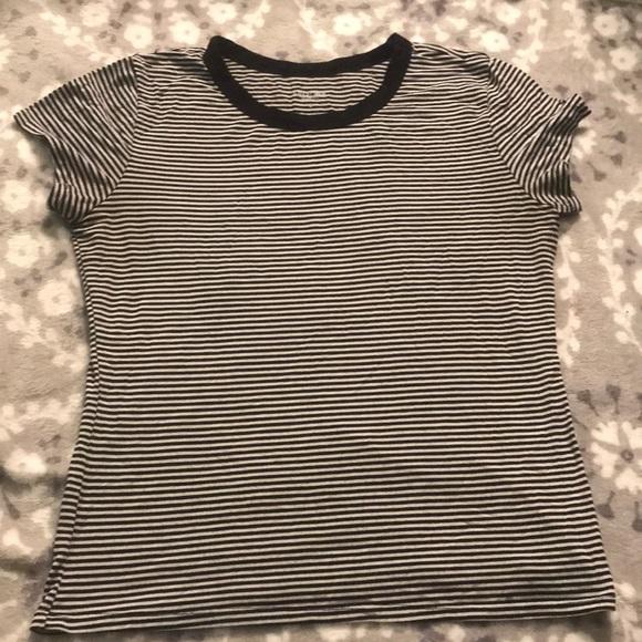 Arizona Jean Company Tops - B&W striped basic tee